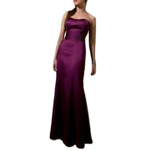 """Alfred Angelo """"Grape"""" Satin Gown NWT- Size 10"""